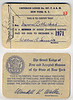 Freemason membership card, Mervin Rothschild