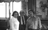 Sylvia Tanner, Herman Luke, Jerry Rockwood (nee Rifkin)<br /> <br /> 1 Brownes Terrace, Englewood, NJ<br /> c1975