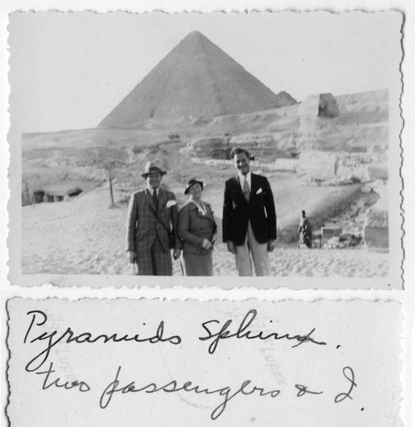?, Sadie Miller, ?<br /> <br /> Pyramid in Egypt