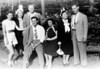 Guests at Tamiment, Summer, 1947<br /> <br /> Naomi Bloom Rothschild, Kate Rosen, Dave Bloom, Stuart Miller, Gladys MILLER, Sadie Miller, Norvin Rothschild