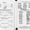 1961-05-14, Cathy Askew's Scrap Book, Notre Dame Band Program (Inside)