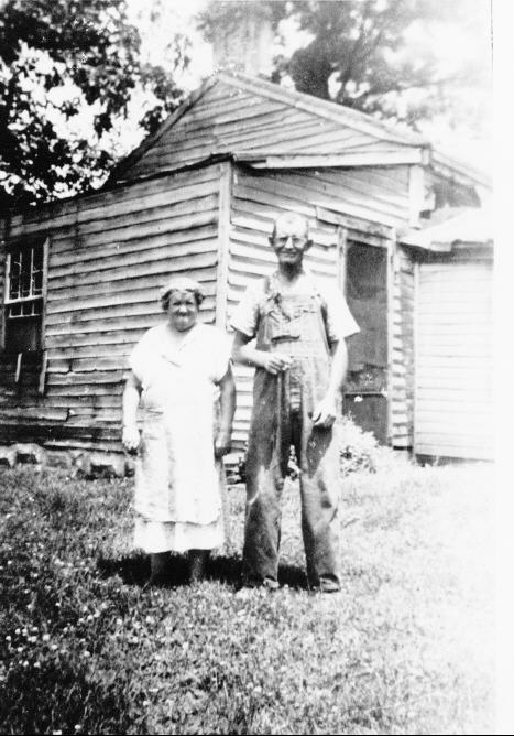 Erma and J. Chambers.  Photo taken in Bowling Green, Indiana.
