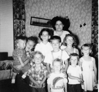 1st row: Brenda, Floyd, Karen, Dusty, Betty<br /> 2nd row: Ronnie and Sande<br /> 3rd row: Phyllis and Anna<br /> Back row: Margie