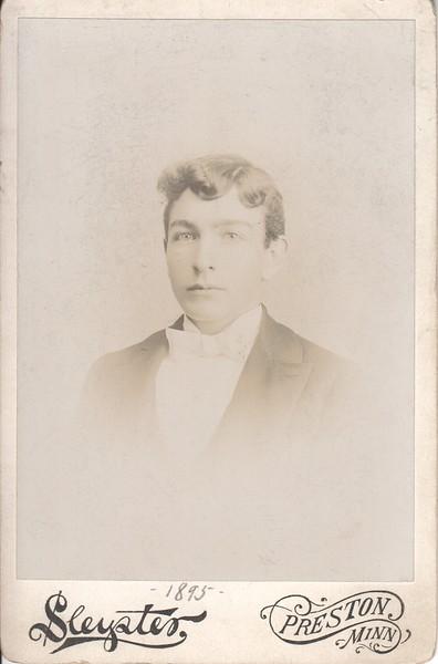 Unknown young man, 1895, Preston, MN