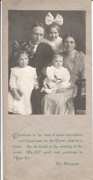 Kemper family Christmas card