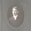 Unknown young man, high school graduation photo.