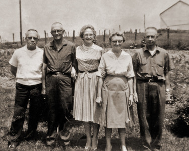 Harry, Joseph, Repha, Virginia and Hensel Smith  at Cherry Hill Farm on June 6th, 196?