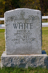WHITE Philip J. 1877 - 1957 his wife Annie McShane 1881 - 1970
