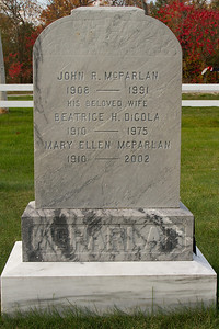 John R. McParlan 1908 - 1991 his beloved wife Beatrice H. DiCola 1910 - 1975 Mary Ellen McParlan 1910 - 2002 McParlan