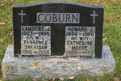 Coburn Lambert J. 1907 - 1985 his wife Florence Sheridan 1910 - 1998 Howard J. 1899 - 1960 his wife Catherine Moore 1907 - 1982