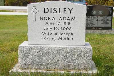 Disley Nora Adam June 17, 1918 July 16, 2008 wife of Joseph Loving Mother