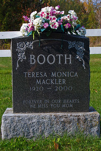Booth Teresa Monica Mackler 1920 - 2000 Forever in our hearts. We miss you mom.