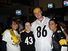 Here we go STEELERS<br /> Stacy, Liz, Rob, Me