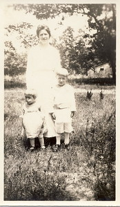 Elsie Brewer with Nelson and Hazel circa 1919