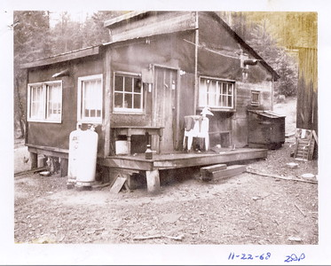 Enoch Majors cabin in Weaverville, CA where he lived until he died in 1968.