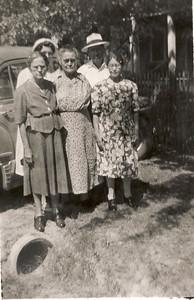Front Row; Clara and Della Greathouse, Elsie Majors 1953