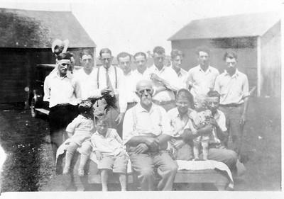 Family Gathering 1926/27. Oscar on left back row. John Stein front center.