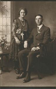 Oscar Stein and Helen Majors Wedding 22 November,  1922