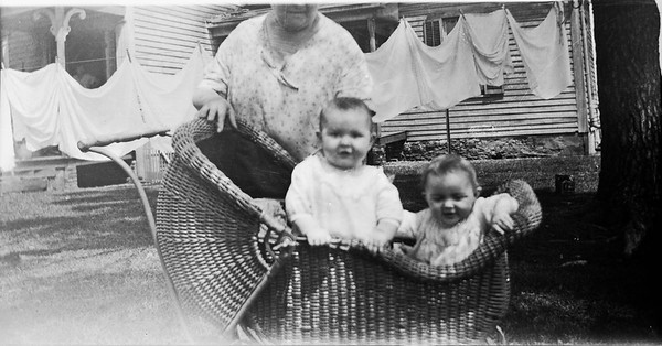 Louisa Stein with Fern and Faye