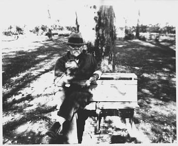 John Stein at Rimsnider Farm after Louisa's death 1942.