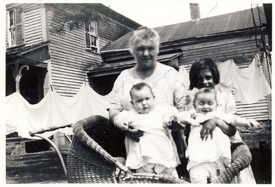 Louisa Stein, Mary Louisa and Faye and Fern circa 1933
