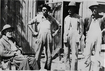 James Jefferson Wolfe (left) with brother Bruce and two sons