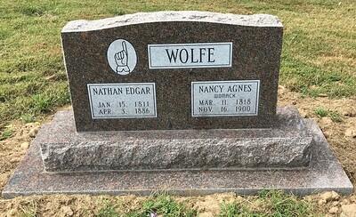 Wolfe Headstone