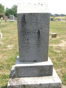 James Jefferson Wolfe Headstone