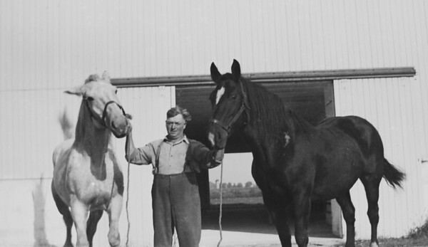 Possibly Clarence Ellsworth Wolfe, farmhand for Oscar Stein and Half Nephew of Easter Helen Stein. Early 1930's.