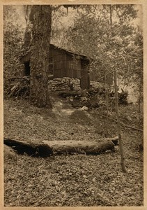 The cabin in the Arroyo Seco above Pasadena, California that F.G.H. Stevens built for their honeymoon in 1910.