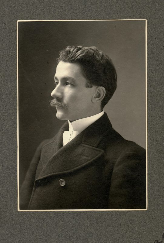 Frank. G.H. Stevens (1874-1965) taken when he was a student at Drew Theological Seminary.