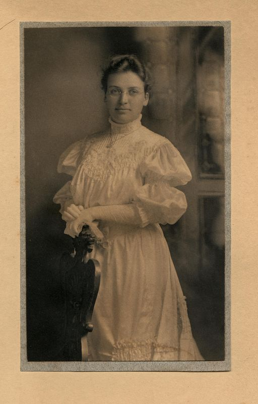 Agnes (Johnston) Stevens (1880-1960)<br /> wife of Arthur Bush Stevens taken<br /> June 1, 1905