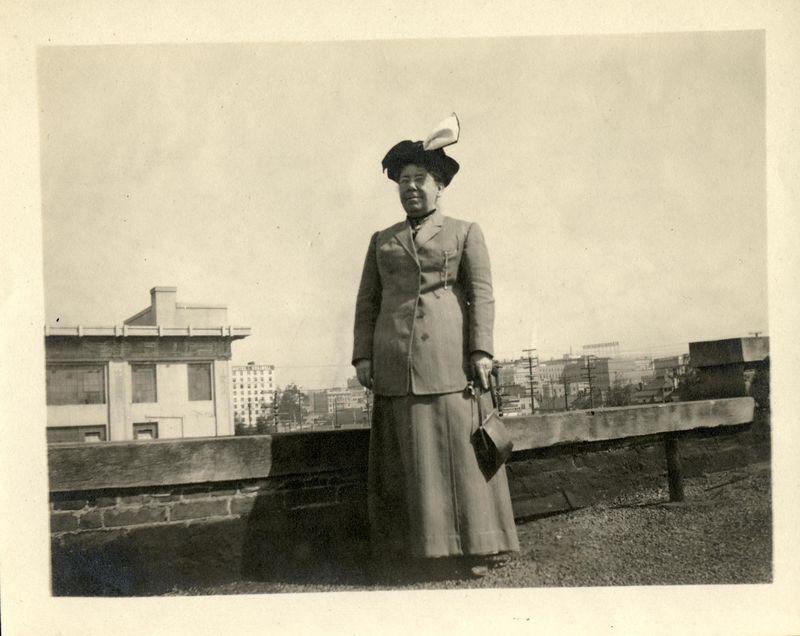 Dora Meldon (Bucher) Stevens (1850-1921) third wife of Frank D. Stevens.