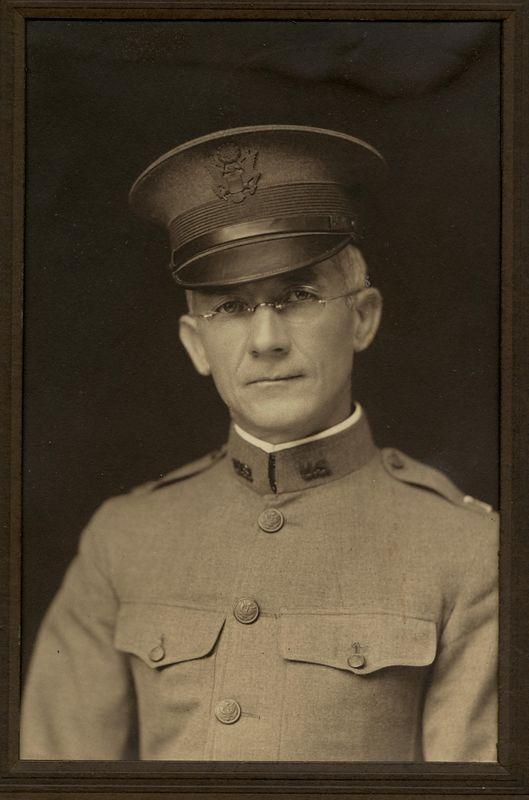 Frank Gilbert Haven Stevens (1874-1965) taken in his World War I chaplain army uniform. 1918
