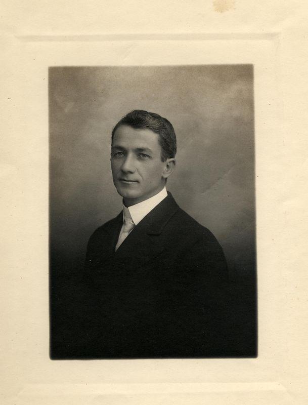 Rev. Frank Gilbert Haven Stevens (1874-1965) while a minister at Fresno Methodist Church. 1919-1927
