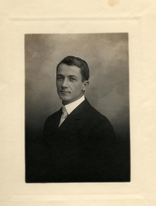 Rev. Frank Gilbert Haven Stevens (1874-1965) while a minister at Fresno Methodist Church. 1919-1927
