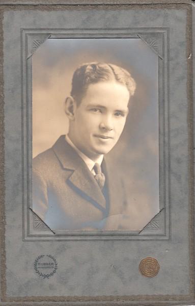 Don Stewart, high school graduation photo