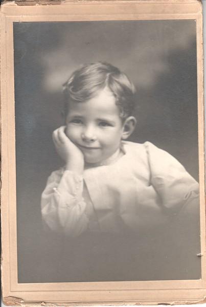 Don Stewart as a boy