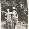 Lu Stewart and friend, dressed for an excursion of some kind