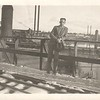 Don at lumberyard in West, 1930s
