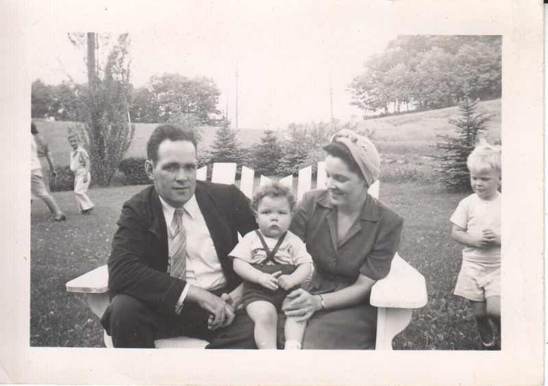 Don, Jim and Mary Stewart with cousin Terry Stewart, 1943