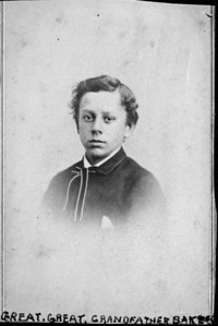 Baker- John Charles M., b.1/7/1804 in Canada; d.8/21/1874 in Cleveland, OH. Note: it is also possible that this picture is of his son, Charles B., 1849-1917