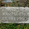 Gravestone of Emily J. FEAGAN (maiden name STOCKTON).
