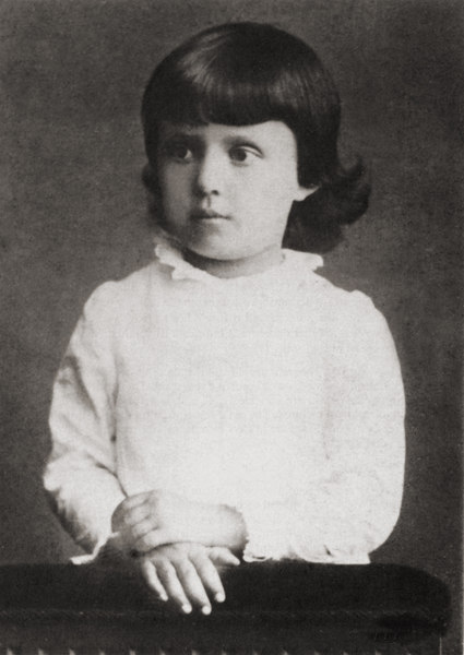 """Alice Masaryk at age 5. Photo from the book """"Alice Garrigue Masaryk, 1879-1955"""" by Ruth Crawford Mitchell."""
