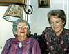 Pat Strati visiting Ruth Garrigue in the late 80s. Ruth died in Dec. 1990 at age 87. She was the grandaughter of Rudolph and Charlotte Whiting Garrigue, and the daughter of Alexander Garrigue by his 2nd wife. Ruth never married.