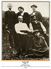 The Masaryk family: at the top, l. - r: Jan b.1886, Alice b. 1879, Herbert b. 1880. Seated: Charlotte and Tomas, and on the ground, Olga b. 1891.