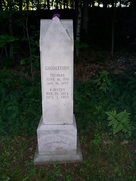 Thomas & Kjesten Goodletson stone