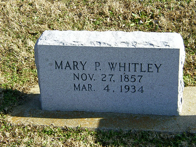 Genealogy Tombstones from Williams, Whitley, Winter, Sadler