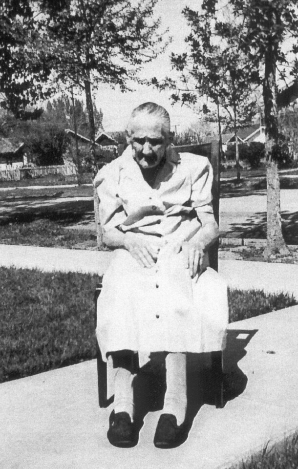 This undated photograph of Eva (Miller) Behm was likely taken in Scottsbluff, Nebraska.  Mrs. Behm was born in Unterdorf in 1867.  She married Heinrich Peter Behm in Russia, and they and their family later migrated to the United States.  She died in 1946 at Scottsbluff, Nebraska.  Our thanks to Gayle Behm of Scottsbluff for providing this photograph.