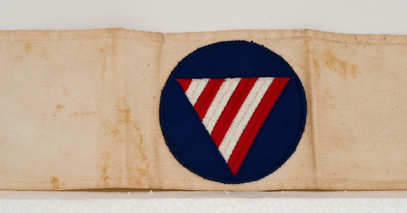 Vivian (Nolin) Macken was issued this civil defense armband during World War II.